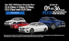 Mercedes Benz - April 2020 0% for 36 + 90 days no payments