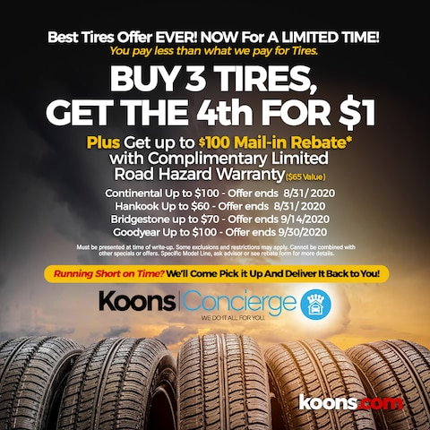 Up to $100 Tire rebate