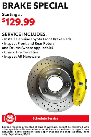 FIXED - Toyota Brake Special