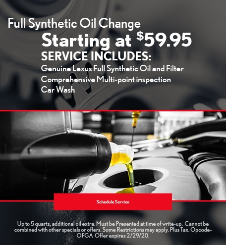 February Oil Change Special - Lexus