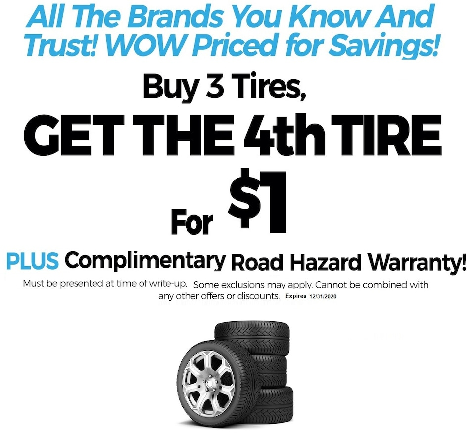 Buy 3 Tires Get the 4th - Volvo