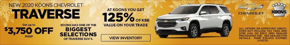 January 2020 Chevrolet Traverse Offer