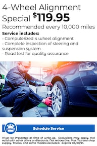 FIXED - ALL (no L/V) - 4 Wheel Alignment $119.95