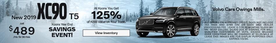 December 2019 Volvo XC90 Offer
