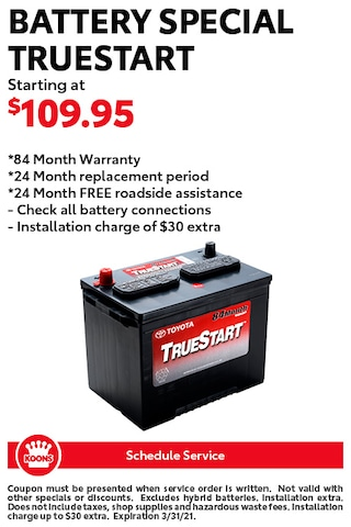 FIXED - Toyota - Battery Special
