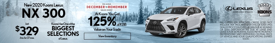 December 2020 Lexus NX 300 Offer