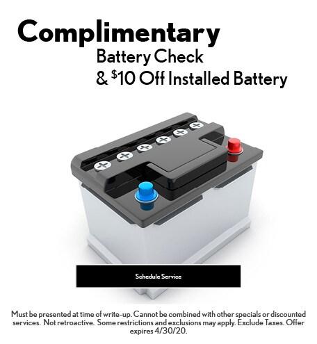 April 2020 Batteries Offer - Lexus