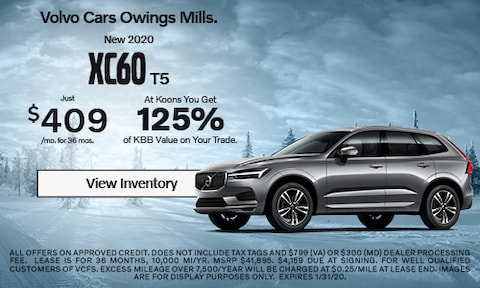 January 2020 Volvo XC60 Offer