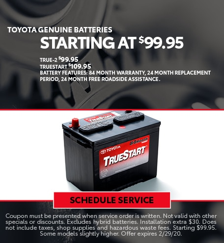 February Battery Special - Toyota