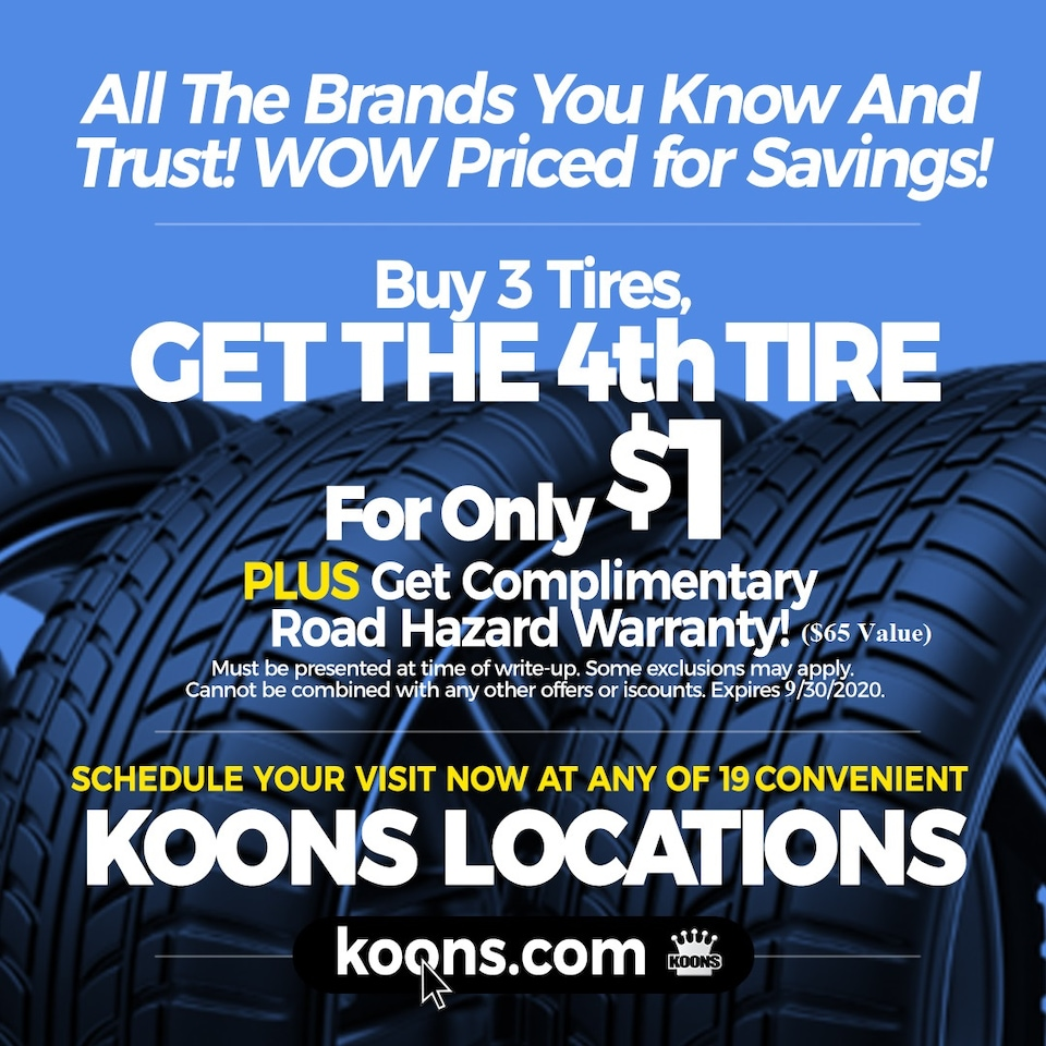 Buy 3 Tires get 4th for only $1