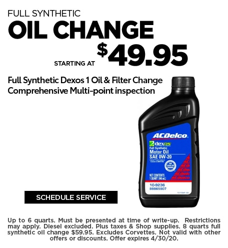April 2020 Oil Offer - Chevy