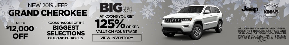 December 2019 Jeep Grand Cherokee Offer