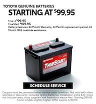 April 2020 Batteries Offer - Toyota