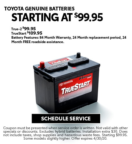 April 2020 Batteries Offer - Toyota