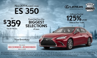 December 2019 Lexus ES 350 Offer