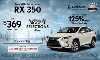 December 2019 Lexus RX 350 Offer