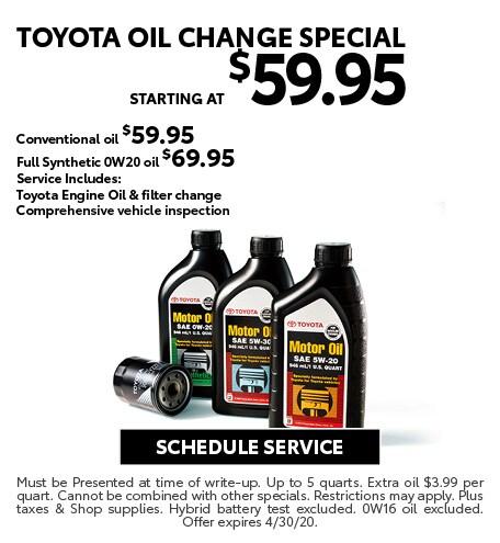 April 2020 Oil Offer - Toyota