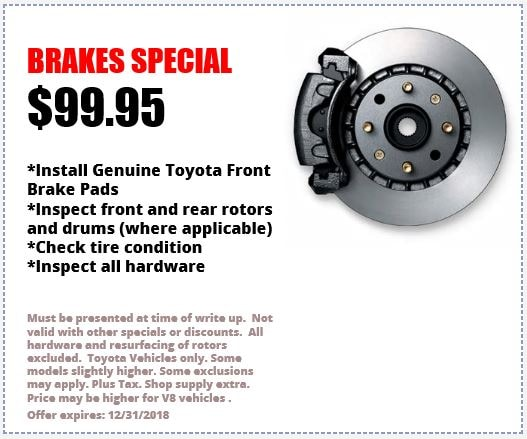 Brake Pads And Rotors Prices >> Toyota Brakes In Annapolis Serving Glen Burnie Laurel Bowie Md