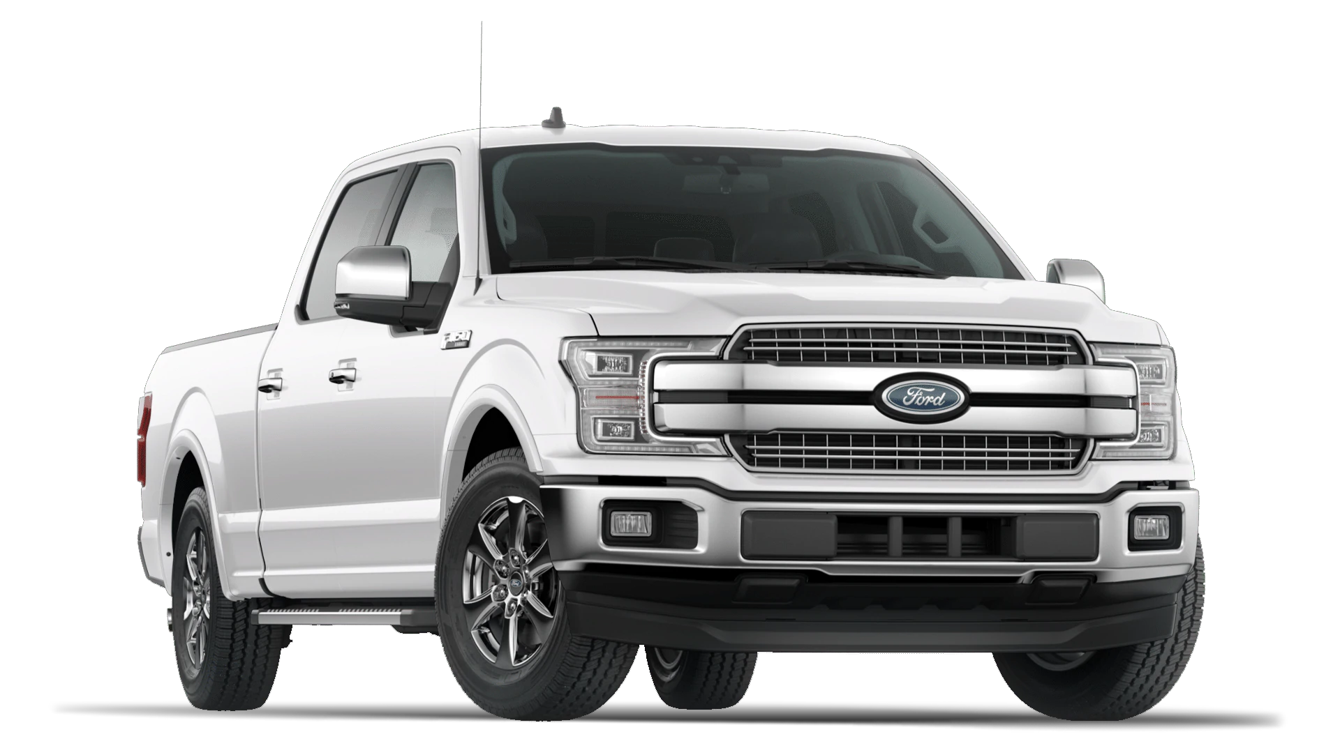 2020 Ford F-150 Lariat Trim Oxford White Exterior with Chrome Package