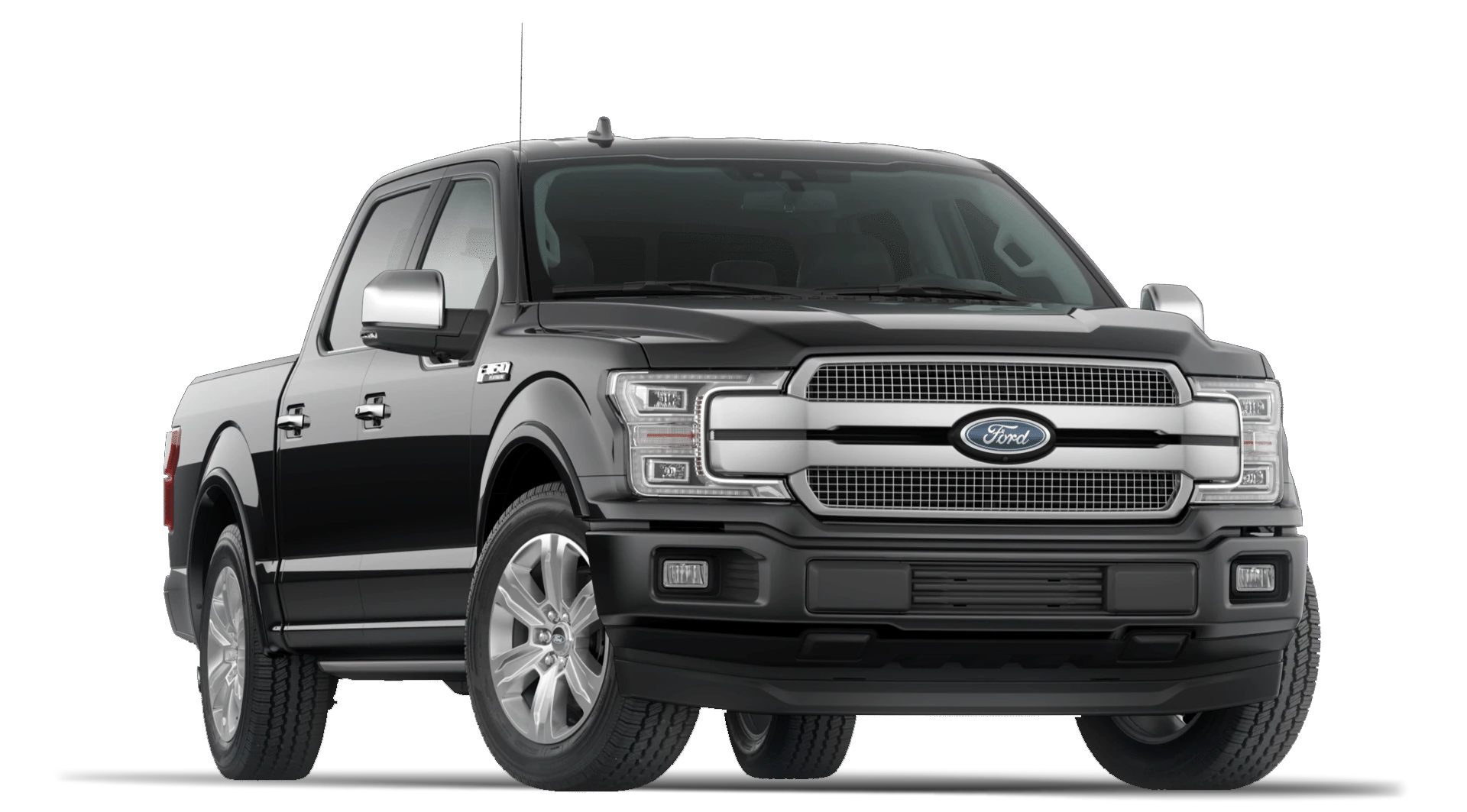2020 Ford F150 Platinum Super Crew Cab in Agate Black Exterior with Technology Package
