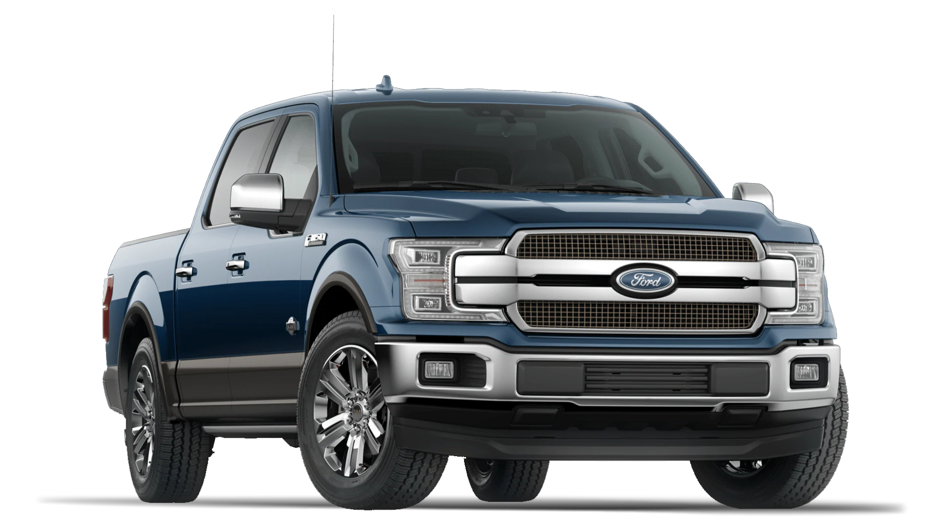 2020 Ford F150 King Ranch Super Crew Cab in Blue Jeans Exterior Color