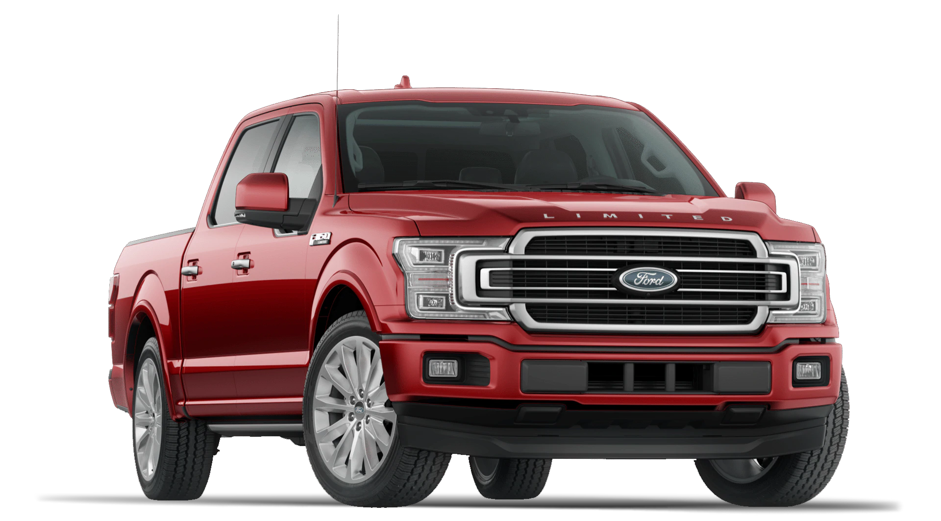 2020 Ford F150 Limited Trim with SuperCrew Cab in Rapid Red Exterior with Trailer Tow Package