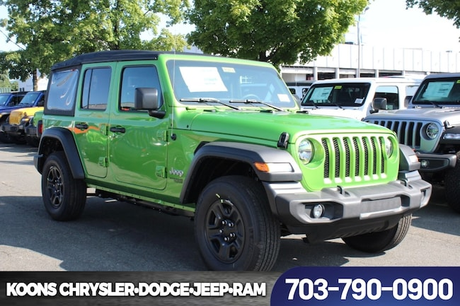 New 2018 Jeep Wrangler UNLIMITED SPORT 4X4 Sport Utility near Fairfax