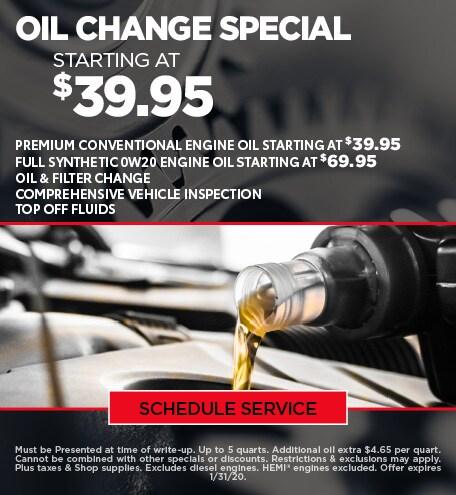 Jan Oil Change update