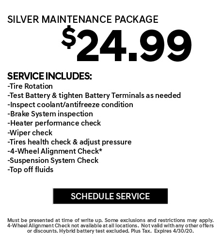 April 2020 Silver Maintenance Offer - Hyundai