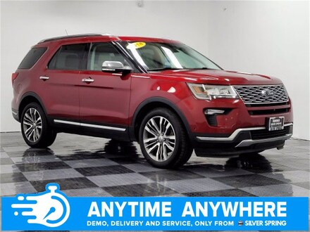 Featured pre-owned luxury vehicles 2018 Ford Explorer Platinum Platinum 4WD for sale near you in Silver Spring, MD