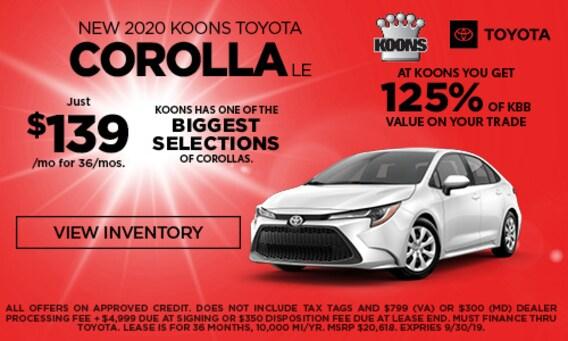 Virginia Auto Sales Tax >> Koons Tysons Toyota Toyota Dealership In Fairfax County