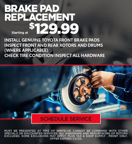 December Brake Pad Special