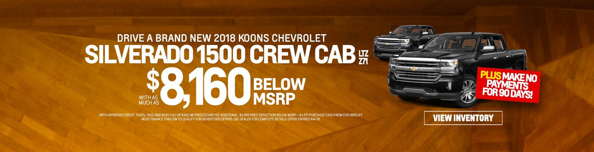 Koons Chevrolet White Marsh >> Baltimore Chevrolet Dealership   New 2018 & Used Chevy ...