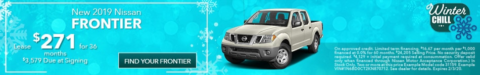 January 2019 Nissan Frontier Offer
