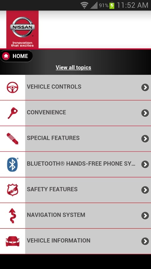 nissan quick reference guide app