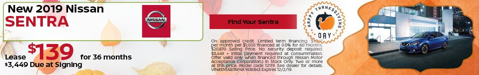 November Nissan Sentra Special