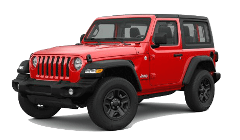 A red 2019 Jeep Wrangler Sport