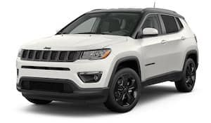 A white 2019 Jeep Compass Altitude