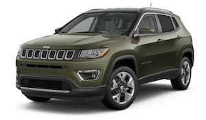 A green 2019 Jeep Compass Limited