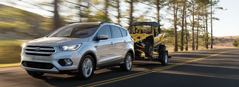 2019 Ford Escape Towing a Go-Kart