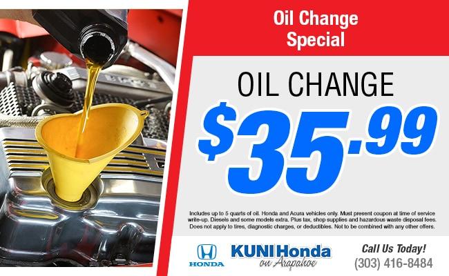 Coupon For Oil Change >> Kuni Honda Service Specials Denver Oil Change Coupons