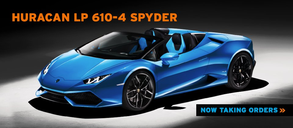 lamborghini huracan spyder lp 610-4 now taking orders at lamborghini north los angeles