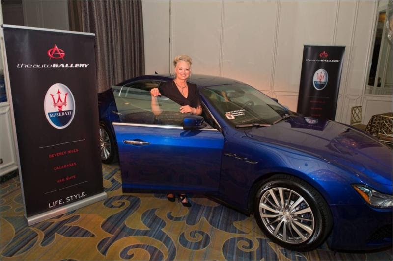Women's Guild board member, Anna Sanders Eigler was the Lucky Winner of the Maserati Lease!