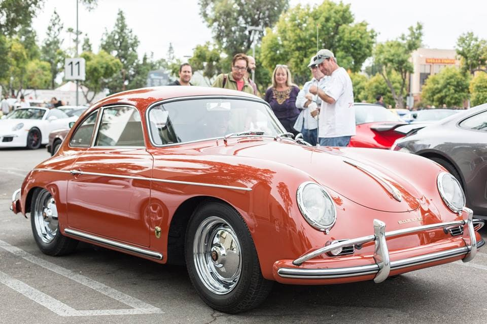 porsche 356 on display at supercar sunday in woodland hills - los angeles