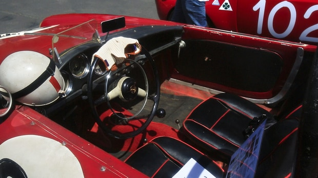 A vintage Alfa Romeo racer at the 2014 Greystone Concours d'Elegance