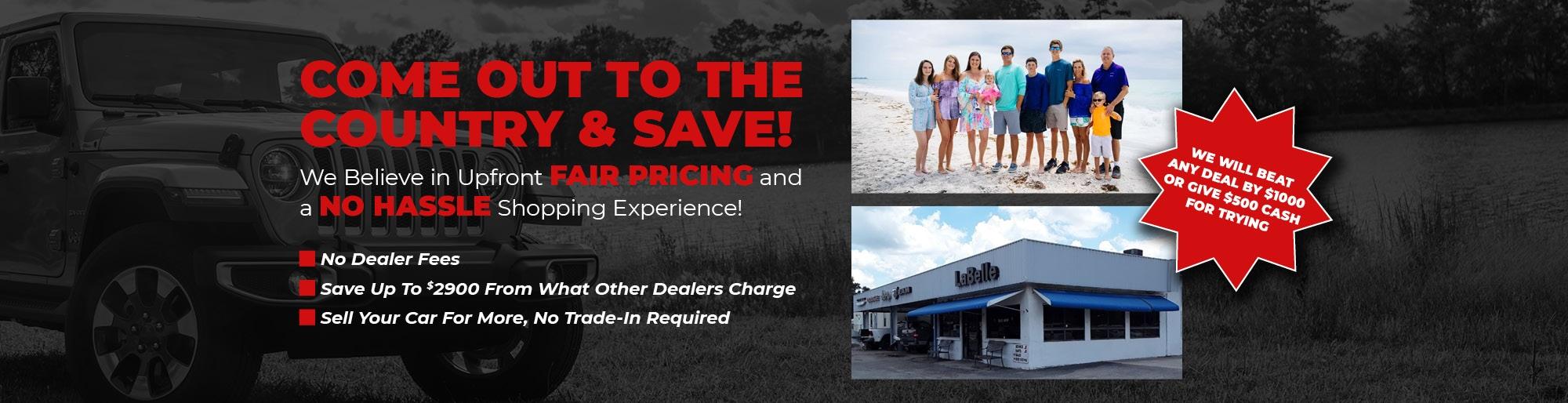 Car Dealers With No Dealer Fees >> Labelle Dodge Chrysler Jeep Ram New Used Dealer Finance