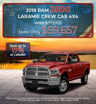 2018 RAM 3500 Laramie Crew Cab 4X4