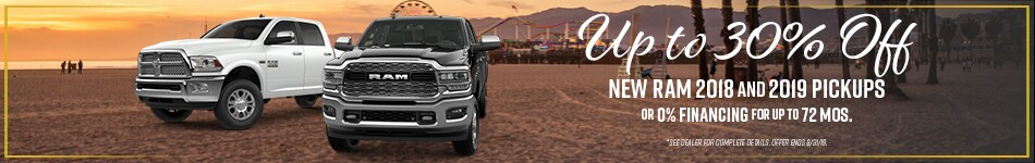 Up to 30% Off New Ram 2018-2019 Pickups