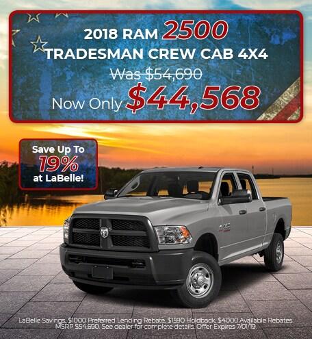 2018 RAM 2500 Tradesman Crew Cab 4X4