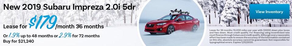 New 2019 Subaru Impreza 2.0i 5dr